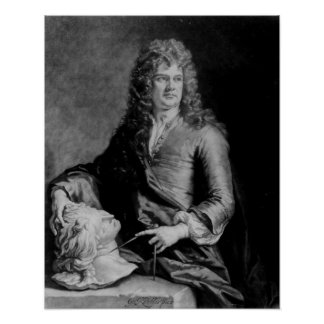 Grinling Gibbons , engraved by J. Smith Poster