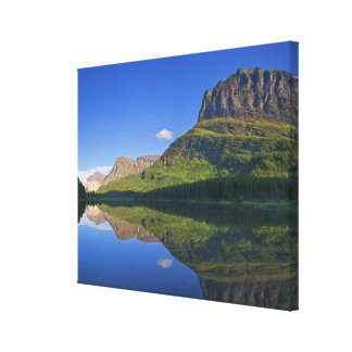 Grinnel Point and Allen Mountain reflect into Canvas Print