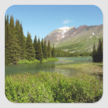 Grinnell Creek at Glacier National Park Square Sticker