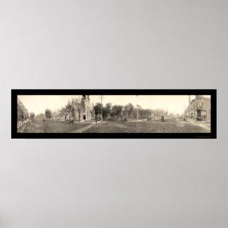 Grinnell foto amplia 1907 del St de IA Poster