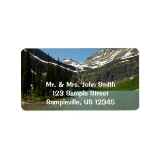 Grinnell Lake at Glacier National Park Label