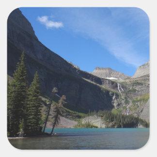 Grinnell Lake - Glacier National Park Square Sticker