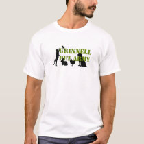 Grinnell Pet Army T-shirt with stencil and animals