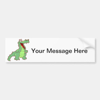 Grinning Alligator Bumper Sticker