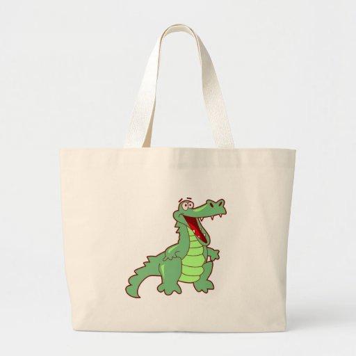 Grinning Alligator Canvas Bags
