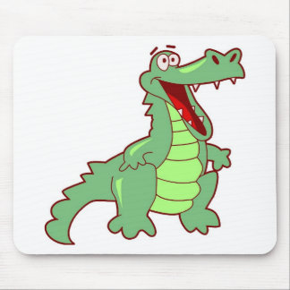 Grinning Alligator Mouse Pad
