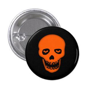 Grinning Bat Skull Goth Badge Button