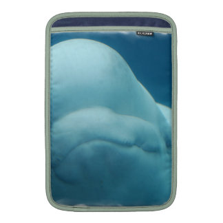 Grinning Beluga Whale MacBook Sleeves