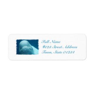 Grinning Beluga Whale Return Address Label