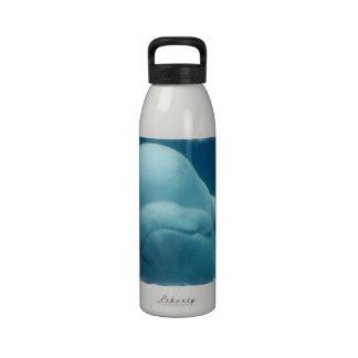 Grinning Beluga Whale Reusable Water Bottle