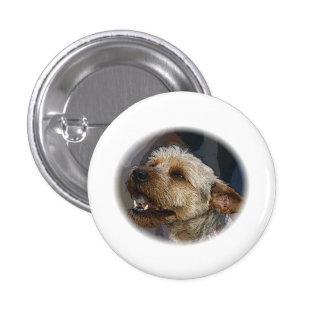 Grinning Border Terrier Cross Pinback Button