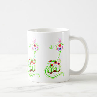 Grinning Brontosaurus (White) Coffee Mug