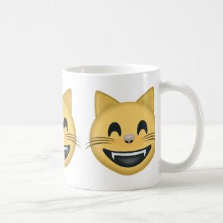 Grinning Cat Face With Smiling Eyes Emoji Coffee Mug