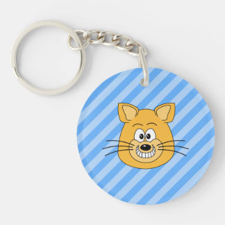 Grinning Cat. Double-Sided Round Acrylic Keychain