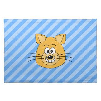 Grinning Cat. Cloth Place Mat