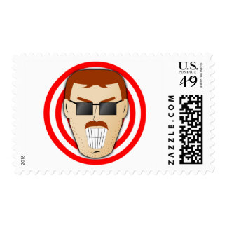 Grinning Dan Postage Stamp