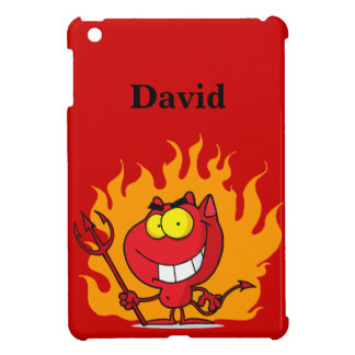Grinning Devil With Pitchfork Cover For The iPad Mini