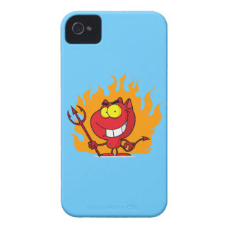 Grinning Devil With Pitchfork iPhone 4 Case-Mate Case