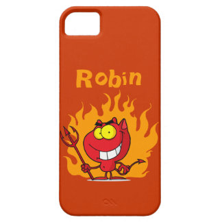 Grinning Devil With Pitchfork iPhone SE/5/5s Case