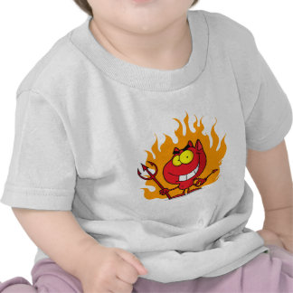 Grinning Devil With Pitchfork Tee Shirt