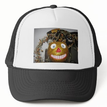 Halloween Themed Grinning face trucker hat
