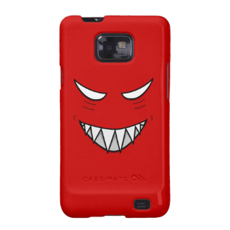 Grinning Face With Evil Eyes Red Galaxy S2 Covers