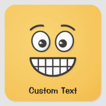 Grinning Face with Open Eyes Classic Round Sticker