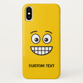 Grinning Face with Open Eyes iPhone X Case