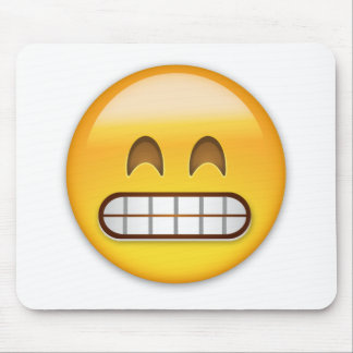 Grinning Face With Smiling Eyes Emoji Mouse Pad