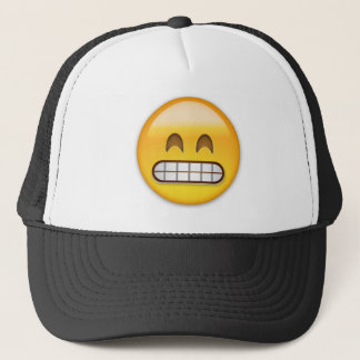 Grinning Face With Smiling Eyes Emoji Trucker Hat