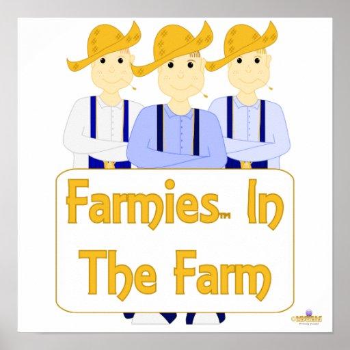 Grinning Farmies BRB Blue Pants Farmies In The Far Poster