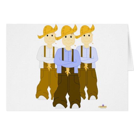 Grinning Farmies BRB Brown Pants Greeting Card
