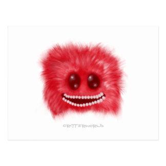 Grinning Fluffball Critter Postcard
