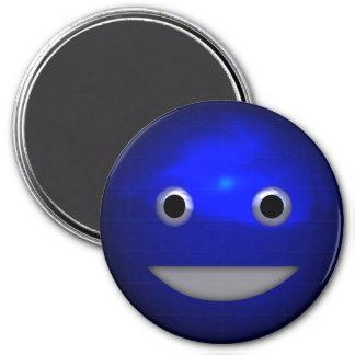 Grinning Funny Metallic Smiley Face Kawaii Art Magnet