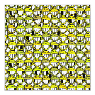 Grinning Funny Yellow Smiley Face Pattern Card