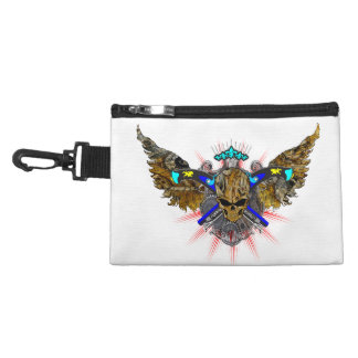 Grinning Gears Winged Steampunk Skull Accessories Bags