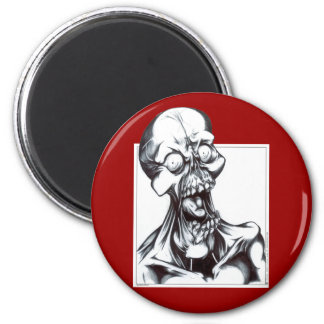 Grinning Ghoul 2 Inch Round Magnet