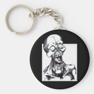 Grinning Ghoul Basic Round Button Keychain