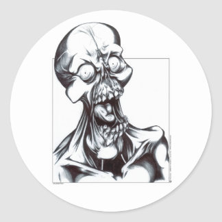 Grinning Ghoul Classic Round Sticker