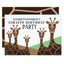Grinning Giraffes, Giraffe Birthday Party Invitation