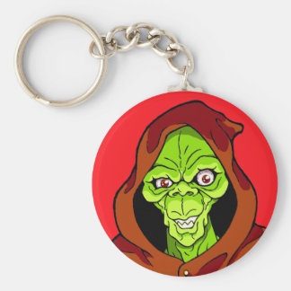 Grinning Green Ghoul Keychain