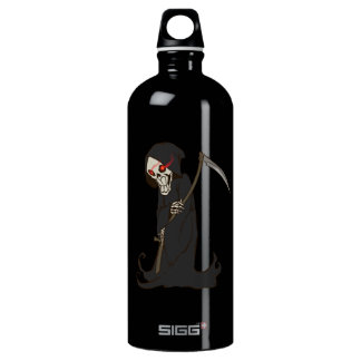Grinning Grim Reaper with Red Eyes Holding Scythe SIGG Traveler 1.0L Water Bottle