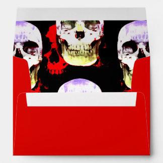 Grinning Halloween skulls Envelope