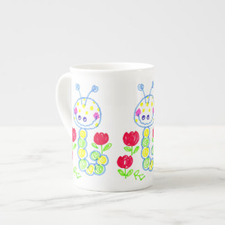 Grinning Happy Caterpillar Tea Cup