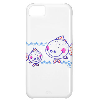 Grinning, happy fish Light Aqua Background Case For iPhone 5C