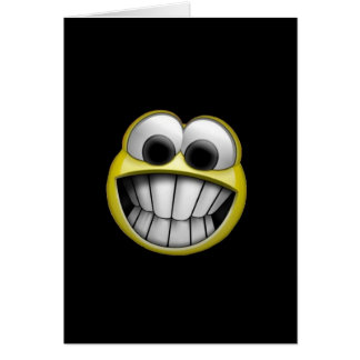 Grinning Happy Smiley Face Greeting Cards