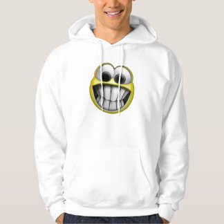 Grinning Happy Smiley Face Hooded Pullover