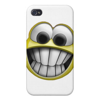 Grinning Happy Smiley Face i iPhone 4/4S Covers