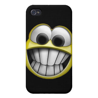 Grinning Happy Smiley Face iPhone 4/4S Cases