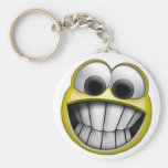 Grinning Happy Smiley Face Keychains
